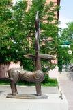 Sculpture Sarmatian deer or Sarmatian Olen Stock Photos