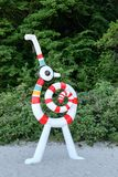 Sculpture by the sea 2015 in Aarhus, Denmark Royalty Free Stock Photography