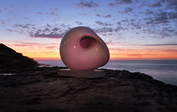 Sculpture by the Sea - Acoustic Chamber Royalty Free Stock Images
