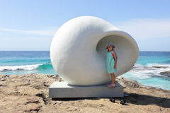 Sculpture by the Sea - Acoustic Chamber Stock Photo