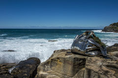 Sculpture by the sea in Bondi beach Stock Photo