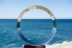 Sculpture by the sea in Bondi beach Royalty Free Stock Images