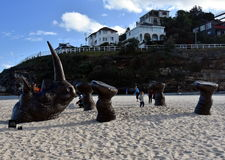 Sculpture by the Sea in Bondi Royalty Free Stock Image