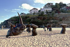 Sculpture by the Sea in Bondi Stock Photography