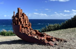 Sculpture by the Sea in Bondi royalty free stock photos