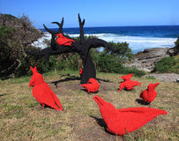 Sculpture by the Sea exhibit at Bondi Australia Stock Photography
