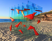 Sculpture by the Sea exhibit at Bondi Australia Royalty Free Stock Photography