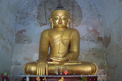 Sculpture of a seated Buddha in the ancient temple Gawdaw-palin. Myanmar Royalty Free Stock Image