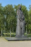 Sculpture Sibiryachka with her son, 9-meter monument to the workers of the rear. Park of Culture and Rest named after. Omsk, Russia - June 21, 2016: Sculpture Royalty Free Stock Image