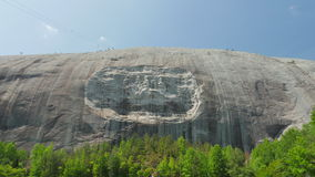 Sculpture in Side of Stone Mountain. Sculpture carved in side of Stone Mountain in Georgia, USA. This is a famous U.S. landmark Royalty Free Stock Photography