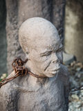 Sculpture of slaves in Stone Town, Zanzibar Royalty Free Stock Photo