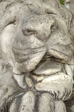Sculpture of sleeping lion Stock Photo
