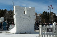 Sculpture in snow and ice. Royalty Free Stock Photo