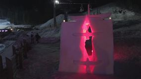 Sculpture of snow stock video footage