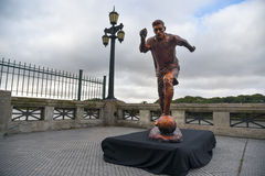 The sculpture of the soccer star Lionel Messi royalty free stock photos