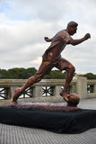 The sculpture of the soccer star Lionel Messi royalty free stock photography