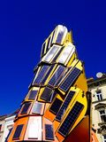 Sculpture and solar panels Royalty Free Stock Photos