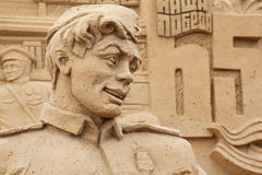 Sculpture of soldier on All-Russian Exhibition Royalty Free Stock Images
