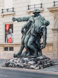Sculpture of soldiers dedicated to World War Royalty Free Stock Images