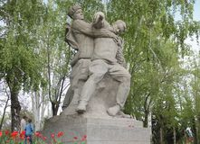 Sculpture of Soviet soldiers in Heroes square in Volgograd Royalty Free Stock Photo