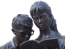The sculpture of Soviet students Royalty Free Stock Photos