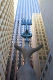 Sculpture by Spanish artist Joan Miro. Royalty Free Stock Photos