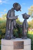 Sculpture of Spejbl and Hurvinek in Plzen, Czech Republic Royalty Free Stock Photos