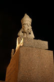 Sculpture of sphinx at night Royalty Free Stock Photos