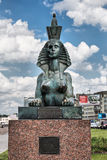 The sculpture of the sphinx which is part of the Monument to victims of political repression. Saint-Petersburg Royalty Free Stock Image