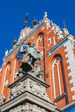 Sculpture of St George on facade Of House of Blackheads In Riga, Latvia. Stock Photo