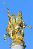 Sculpture of St George on the top of Freedom Monument in Tbilisi Stock Photography