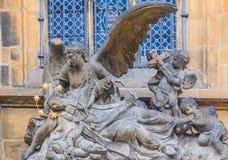Sculpture of St. John of Nepomuk Cenotaph Royalty Free Stock Image