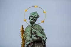 Sculpture of St. John of Nepomuk's Stock Photos