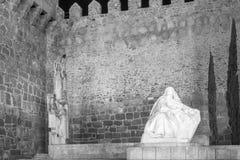 Sculpture of St. Teresa of Jesus. In the main square of Avila, Castilla y Leon, Spain Stock Image