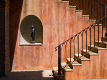 Sculpture stand alone. In wall and stair Stock Photo