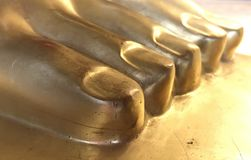 Foot of Buddha stock image
