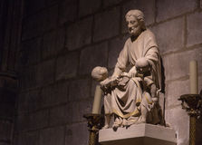 Sculpture statue Notre Dame Royalty Free Stock Images