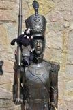 Sculpture Steadfast Tin Soldier in the children`s center stock photo