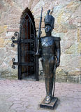 Sculpture Steadfast Tin Soldier in the children`s center `Andersengrad`, Sosnovy Bor royalty free stock photo