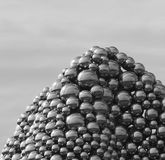 Sculpture With Steel Balls Stock Images