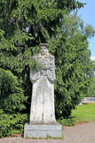 Sculpture of stone Francisc Skaryna in a Yanka Kupala park Stock Image