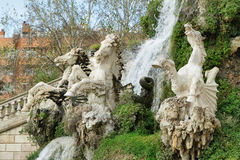 Sculpture of stone horses Stock Photography