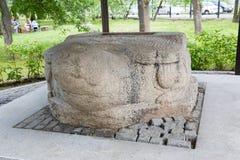 Sculpture stone turtle Jin Empire era, the 13th century Stock Photo
