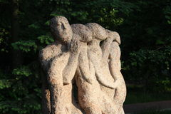 Sculpture. Strange sculpture in local park near Moscow Stock Photography