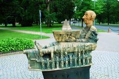Sculpture in the street of Druskininkai city Stock Photography