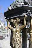 Sculpture in the streets of Barcelona Royalty Free Stock Photography