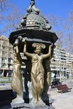 Sculpture in the streets of Barcelona Royalty Free Stock Image