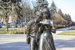 Sculpture of students  in Krasnodar Royalty Free Stock Photos