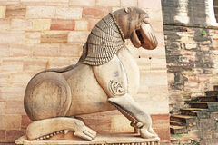 Sculpture in he stunning 8th-century painted Gwalior fort Madhya Stock Photography