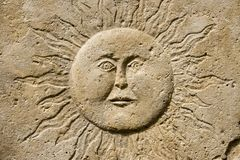 Sculpture of the sun Stock Images